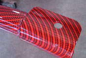 red carbon coating